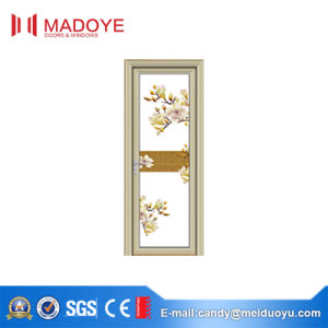 Hollow Glass Aluminium Casement Door with Pattern for Toileet pictures & photos