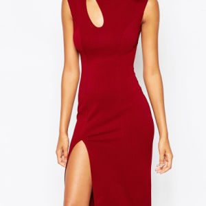 Fashion Sexy Bodycon Fit Prom Dresses with Curved Cut out pictures & photos
