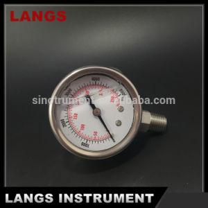 036 50mm Stainless Steel Crimped Bezel Liquid Filled Pressure Gauge pictures & photos