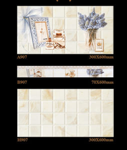 300X600mm Inkjet 6D Interior Wall Tile Ceramic Tile for Building Material pictures & photos