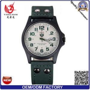 Yxl-549 Fashion Stainless Steel Case Double Buckle Leather Belt Men Wrist Quartz Sport Watch pictures & photos