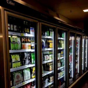 Glass Door Walk in Cold Storage Room for Beverage pictures & photos