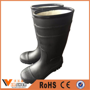Warm Winter PVC Rain Boots with Steel Toe pictures & photos
