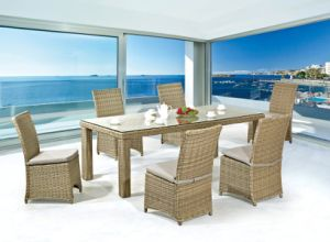 Garden/Patio Wicker Dining Sets for Outdoor Furniture (LN-1003) pictures & photos