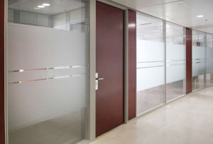 Modern Office Wooden Aluminum Glass Partition Wall (NS-NW229) pictures & photos