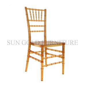 Gold Event Rental Transparent Acrylic Chiavari Banquet Chair (SZ-DCT002) pictures & photos