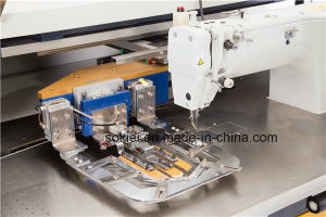 Fully Automatic Intelligent CNC No-Iron Patch Pocket Sewing Machine for Jean Shirt pictures & photos