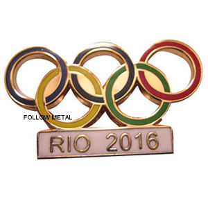 Badge with Olympic Rings Logo