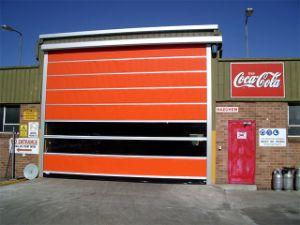 Factory High Speed Rolller Shutter, PVC Transparent Curtain Roll up Door (Hz-HSD010) pictures & photos