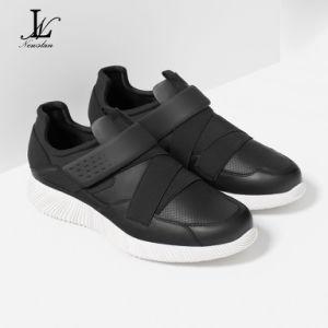 Black Health Leather Sports Shoes (CAS-030) pictures & photos