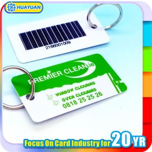 Barcode Printing Custom PVC Loyalty Keytag pictures & photos