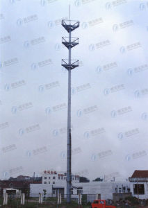 Customed Steel Communication Monopole Tower pictures & photos