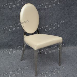Silver Stainless Steel Chair with White Vinyl Seat Cushion in UAE Ycx-Ss26 pictures & photos