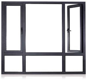 Customs Aluminum Glass Window with Double Glazing pictures & photos