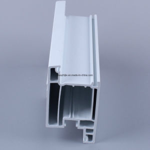 Casement Window Frame 60mm Series UPVC Profiles with Strip Co-Extrusion pictures & photos