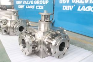 2PCS Electric Flanged Trunnion Mounted Ball Valve pictures & photos