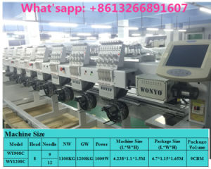 9 Needle Multi-Head Computerized Embroidery Machine Price for Cap and Clothes pictures & photos