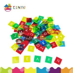 Plastic English Letter Tiles for Language Learning pictures & photos