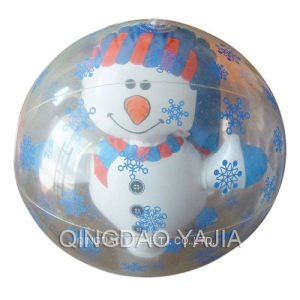 PVC Inflatable Transparent Beach Ball(YJ07-15)