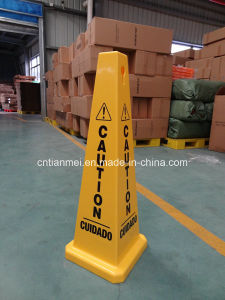 Caution Cuidado Sign, PP Traffic Safety Cone Sign pictures & photos
