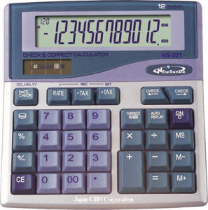 Desktop Calculator with Check & Correct function (NS-321)