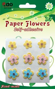 Paper Flower Sticker 9PCS (FH-15)