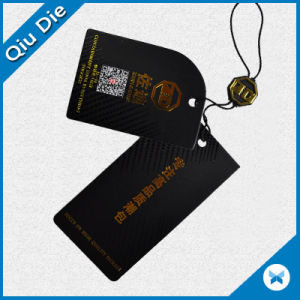 Hot Sale Golden Foil Hang Tag Paper Swing Tag for Apparel pictures & photos