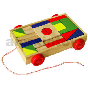 Wooden Building Blocks on Wheels (24PCS) (80026) pictures & photos