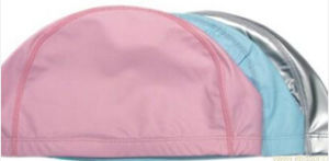 Customized Water-Proof PU Swimming Cap pictures & photos