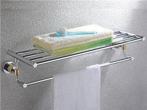 Mardo Series - Bath Shelf With Towel Bar (MA-08-PVDCP)