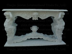 White Marble Angel Table, Garden Furniture (7255) pictures & photos