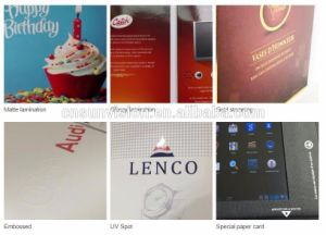 "Custom Printing 1.8"" to 10.1"" LCD Brochure Greeting Card pictures & photos"