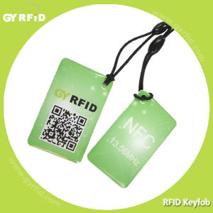 RFID ISO14443A Qr Code Printing Nfc Key Card Tags Fobs pictures & photos