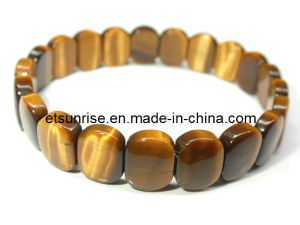 Natural Gemstone Crystal Stone Tiger Eye Bracelet Jewelry pictures & photos