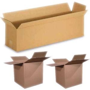 various size brown carton box
