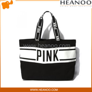 Designer Simple Cheap Black Shopper Totes and Large Beach Bags pictures & photos
