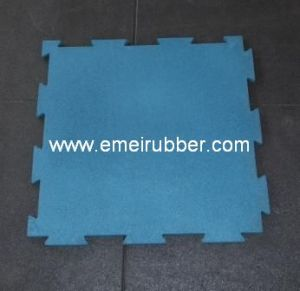 Sport-Lock Rubber Tile/Interlocking Rubber Tile pictures & photos
