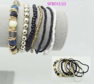 Fashion Multi-Row Beads Bracelet --White & Black Colors