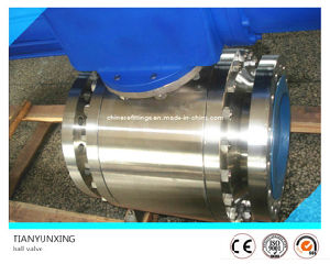 Stainless Steel Pneumatic Forged Trunnion Mounted Ball Valve pictures & photos