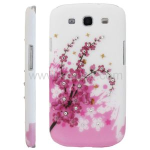 Flowers Pattern Diamond Encrusted Protection Case for Samsung Galaxy Siii I9300