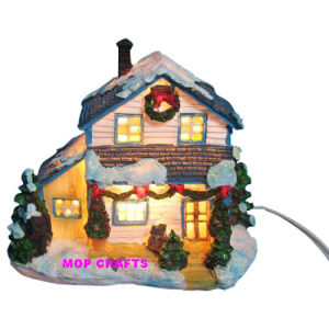 Polyresin Christmas Building, Resin Light House pictures & photos