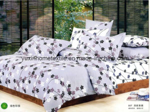 Cotton Sheet Sets, Bed Sheet, Pillow Case, Hometextile (YX-C605)