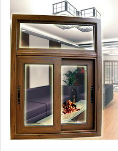 Aluminum Sliding Window (JN65) /Alu-Wood Sliding Window pictures & photos