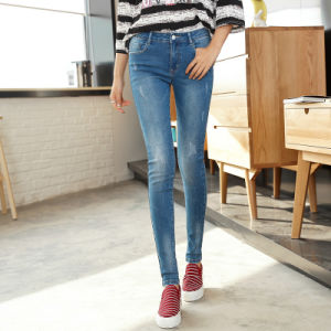High Quality Cheap Lady′s Denim Jean Factory pictures & photos