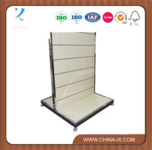 Two Sided Slat Wall Display Rack with Casters pictures & photos