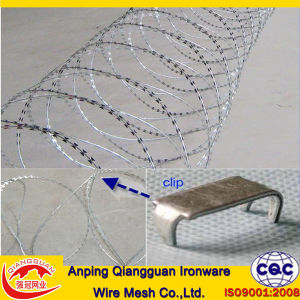 Electro Galvanized or Hot DIP Galvanized Concertina Razor Barbed Wire (ISO9001-2008 CERTIFIED)
