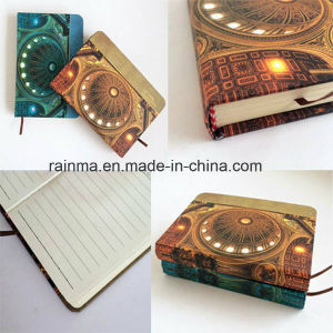 New Fashion LED Light Shinny Hardcover Notebook pictures & photos