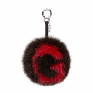 Mix Color Elegant and Graceful Fake Fur Pompom Keychain pictures & photos