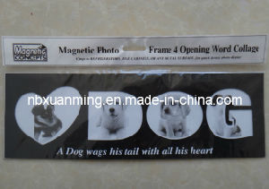 4 Opening Word Collage Dog Magnetic Photo Frame pictures & photos