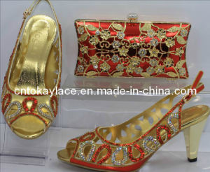 African Lady Shoes with Bag